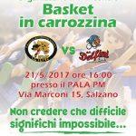 1° incontro di Basket in Carrozzina