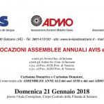 Assemblee annuali dei soci AVIS e AIDO 2018